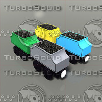 3d toy trains coal cars