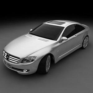 mercedes cl 600 car 3d max