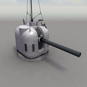 3dsmax 127mm mk42 naval gun