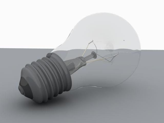 3d model of light bulb