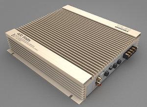 3d model car amplifier