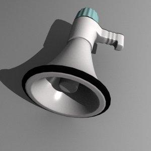 3d bullhorn horn