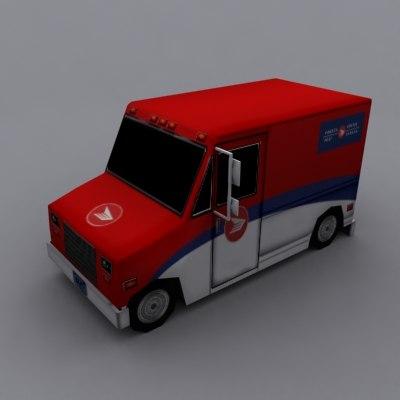 canada post truck 3ds