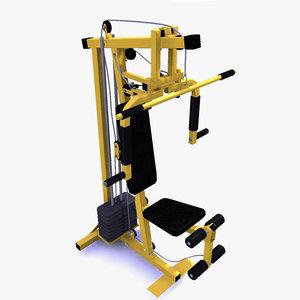 home gym machine 3d model