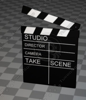 film slate 3d c4d