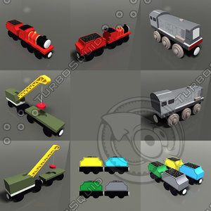 3d toy trains pack 02