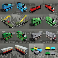 toy trains pack 03 3d model