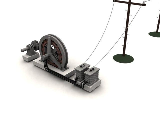 generator substation telephone 3d model