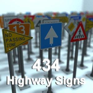 highway sign 3d max