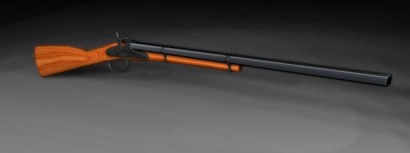 double barrel shotgun 3d ma