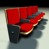 theatre seats 3d 3ds