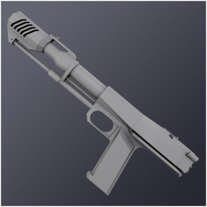 3d model thunder amp weapon