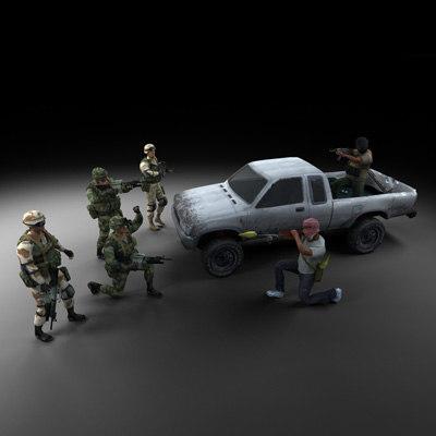 3d model soldiers terrorists