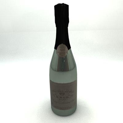 champagne bottle 3ds
