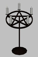 3ds max pentagram candleabra