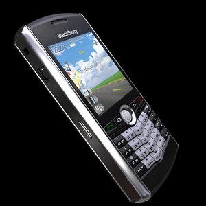 blackberry pearl 8100 3d model