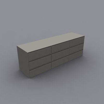 horizontal file cabinet 3d model