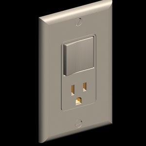 decora style combination wall outlet 3d model