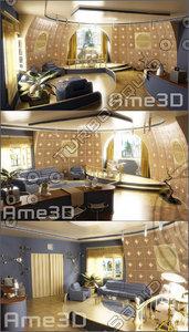 3d model interior