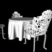 3d garden seats model