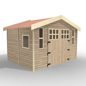 3ds max wooden house