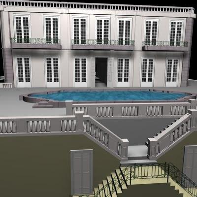 house architecture 3d c4d