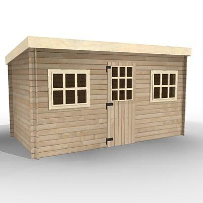 wooden house 3d model