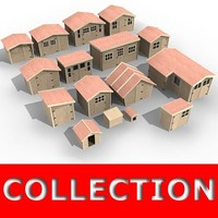 Wooden houses collection