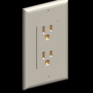 3d model decora style electrical wall outlet
