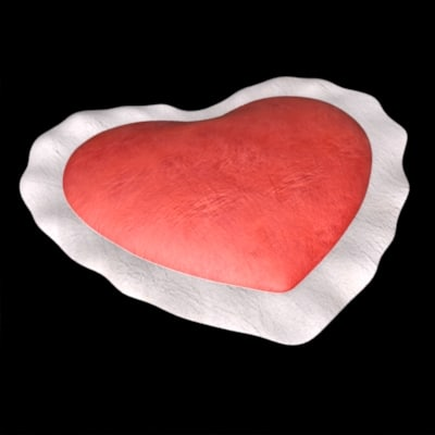 3d heart pillow