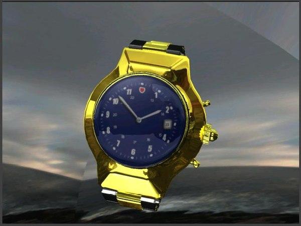 wrist watch 3d ma