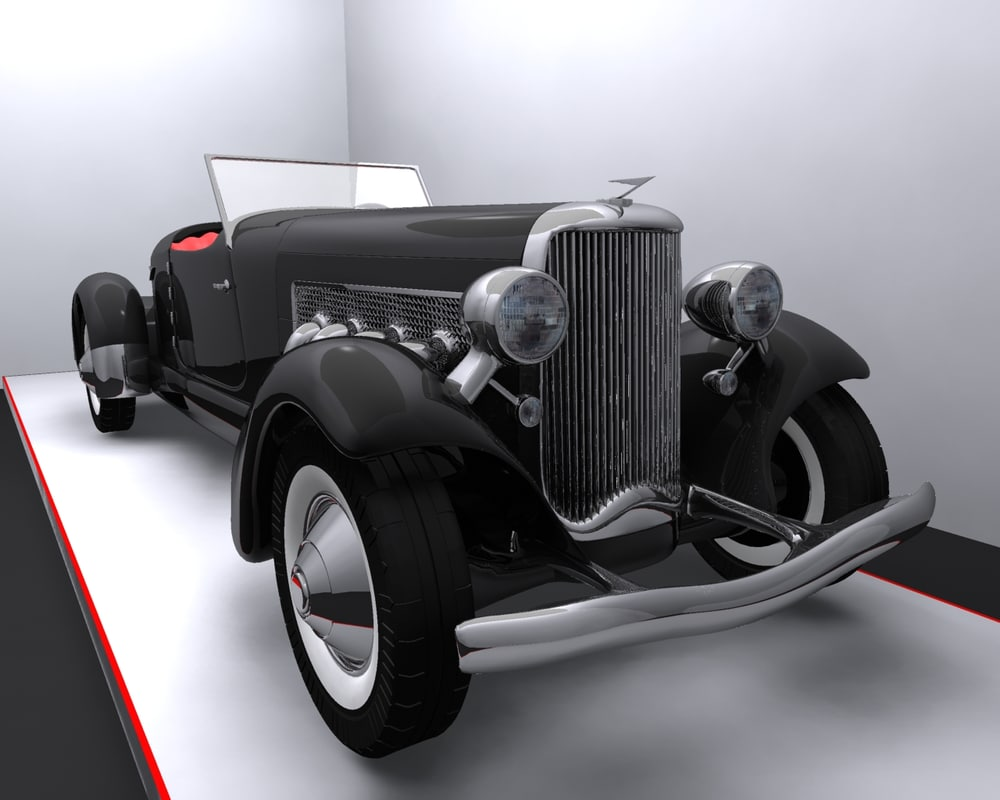 3d model 1933 duesenberg sj roadster