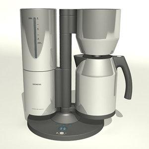 siemens coffee maker 3d model