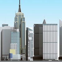 3d model newyork skyscraper buildings
