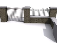 concrete wall 3d model