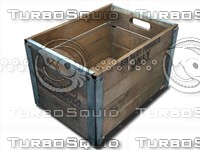 milk crate wooden 3d model