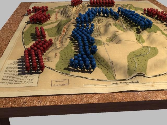 3d model gettysburg animation union