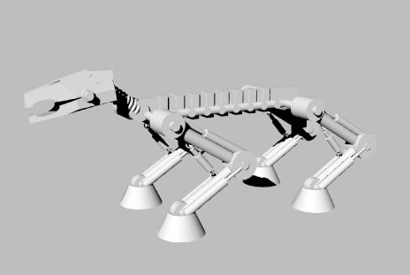 4-legged mech 3d model