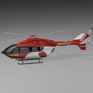 ec-145 helicopter 3d model