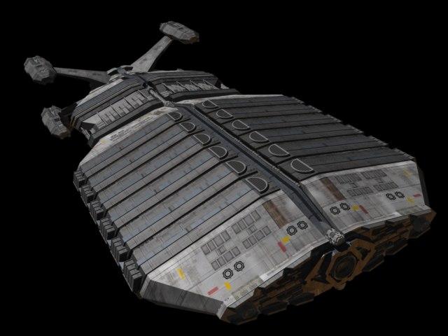 3d cargo tug model