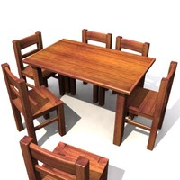 table chairs 3 3ds