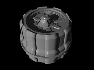 3d turbine impulse