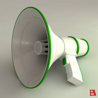 3dsmax bullhorn horn