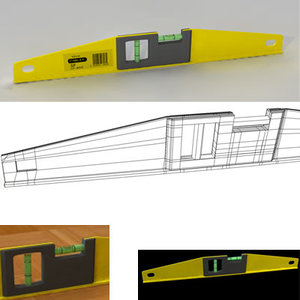 3d yellow level tool