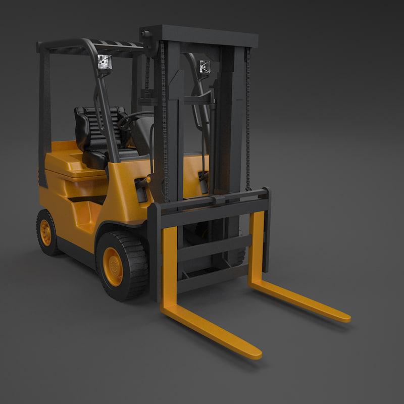 3d fork lift truck