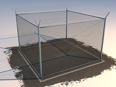 chain fence 3d model