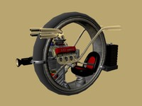 monocycle motorcycle motor 3d model