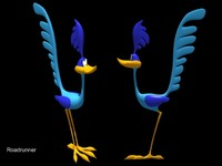 roadrunner cartoon 3d model