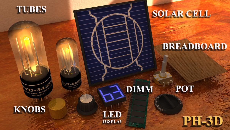 component electronics 3d model