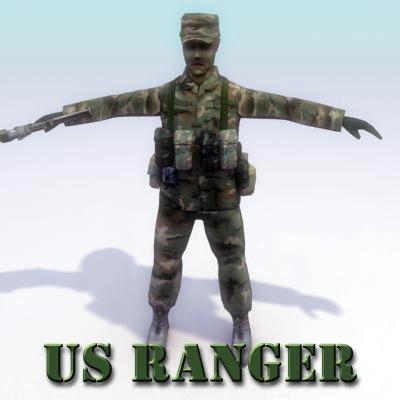 3d model usarmy ranger